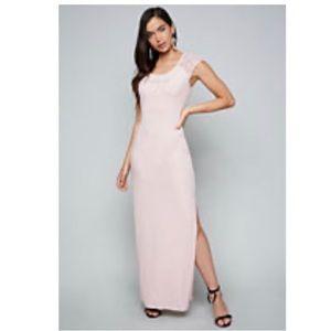 NWT pale pink Bebe Logo Maxi Dress